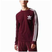 70a5eb4abdd9 adidas Originals 3-Stripes Pique L S T-Shirt - Men s - Maroon