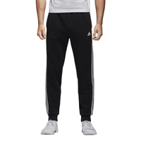 adidas 3 stripe pants. adidas athletics essential 3 stripe fleece pants - men\u0027s black / white