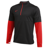 Nike Team Authentic Therma 1/2 Zip Top - Men's - Black / Red