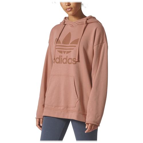 adidas Originals Tubular Chicago Raw Edge Hoodie - Women's Casual - Raw Pink BR9304