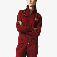 e1c00ca9939038 adidas Originals Tubular Chicago Firebird Track Top - Women's - Maroon /  Maroon