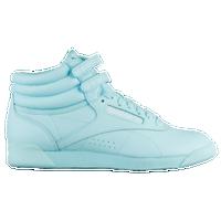 Reebok Freestyle Hi - Women s - Light Blue   White bf2ab7170