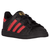 adidas superstar black and red stripes