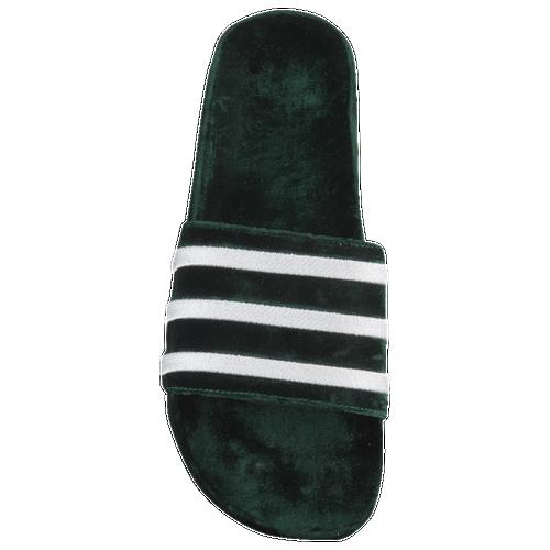 6edb68e7a06684 adidas Originals Adilette - Men s - Casual - Shoes - Collegiate Green White