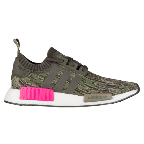 adidas Originals NMD R1 Primeknit - Men\u0027s - Running - Shoes - Utility  Grey/Utility Grey/Shock Pink