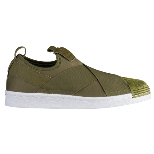 adidas superstar slip on olive