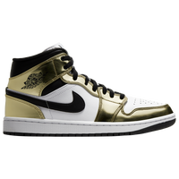 Jordan AJ 1 Mid SE - Men's - Gold / White