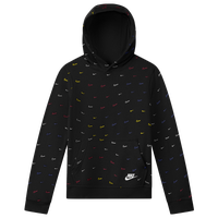Nike NSW Club PO BB AOP Hoodie - Boys' Grade School - Black