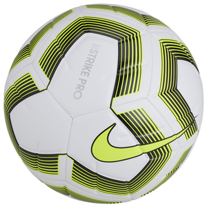 Nike Strike Pro Team Soccer Ball - White/Black/Volt