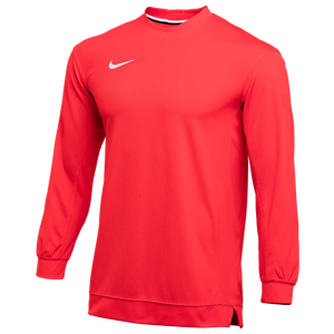 Nike Team Dry Classic Mesh L/S Top - Men's - Scarlet/White