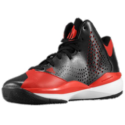 adidas D Rose 773 III - Boys' Grade School - Basketball - Shoes - Rose,  Derrick - Black/Light Scarlet/Running White