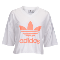 adidas Originals Equipment Trefoil Crop T-Shirt - Women s - White   Pink 79d4b6cb5
