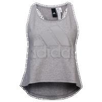 Latest Adidas Athletics Big Logo Crop Tank Medium Grey Heather For Women Online Sale