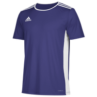 adidas Team Entrada 18 S/S Jersey - Men's - Purple / White
