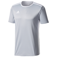 adidas Team Entrada 18 S/S Jersey - Men's - Grey / White