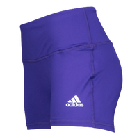 "adidas Team Climalite Techfit 4"" Shorts - Women's - Purple / White"