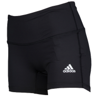 "adidas Team Climalite Techfit 4"" Shorts - Women's - Black / White"