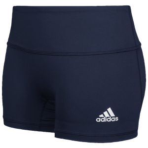 "adidas Team Climalite Techfit 4"" Shorts - Women's - Collegiate Navy"