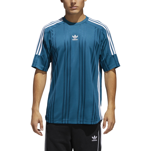adidas Originals Jaquard 3 Stripe Jersey - Men's Casual - Real Teal/White CE1635