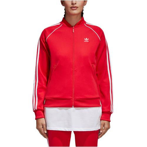 adidas Originals Adicolor Superstar Track Top - Women\u0027s - Red / White