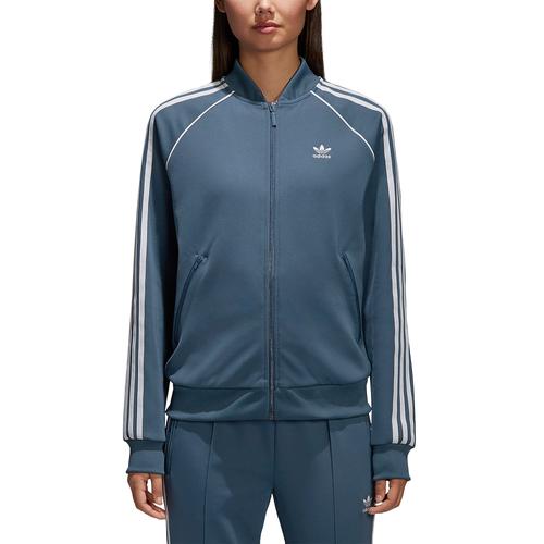 adidas Originals Adicolor Superstar Track Top - Women's - Casual - Clothing  - Dark Steel