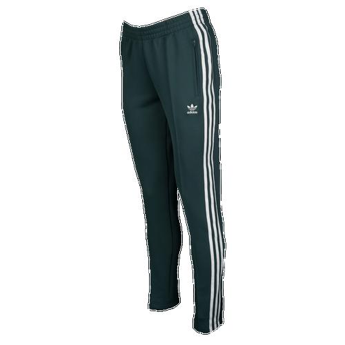 adidas Originals Adicolor Superstar Track Pants - Women\u0027s - Dark Green /  White
