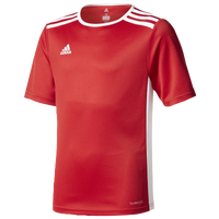 adidas Team Entrada 18 S/S Jersey - Boys' Grade School - Red / White