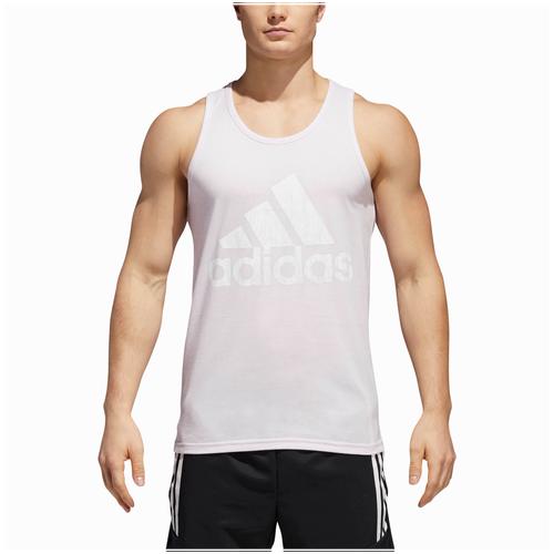 adidas Athletics Badge of Sport Tank - Men's Casual - Aero Pink/White CF8266