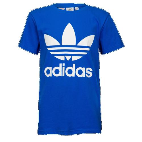 online store 1b9c5 e1bee adidas Originals Adicolor Trefoil T-Shirt - Boys Grade School - Casual -  Clothing - BlueWhite