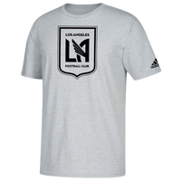 adidas MLS Logo Squad Primary T-Shirt - Men's - LA FC - Grey