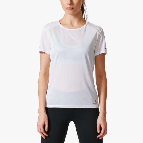 adidas Sequencials Run Short Sleeve T-Shirt - Women's Running - White CG2018