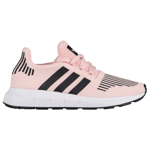 adidas Originals Swift Run - Girls' Grade School - Running - Shoes - Ice  Pink/Black/White