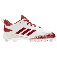 adidas Afterburner V MD - Boys' Grade School - White / Red