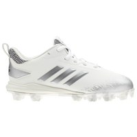 adidas Afterburner V MD - Boys' Grade School - White / Silver