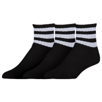 adidas Originals 3-Pack 3-Stripe Quarter Socks - Women's - Black / White