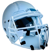 "Cage Mask Clear Football Helmet Mask 4"" Large - Adult - Blue"