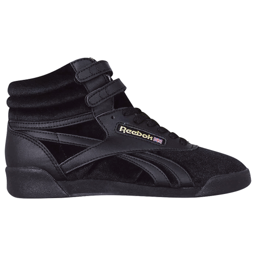 0462f5d7a1df57 Reebok Freestyle Hi - Girls  Grade School - Casual - Shoes - Black Gold