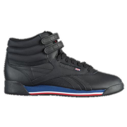 d8644252854 Reebok Freestyle Hi - Women s - Casual - Shoes - Retro Black White Bunker  Blue Primal Red Coal