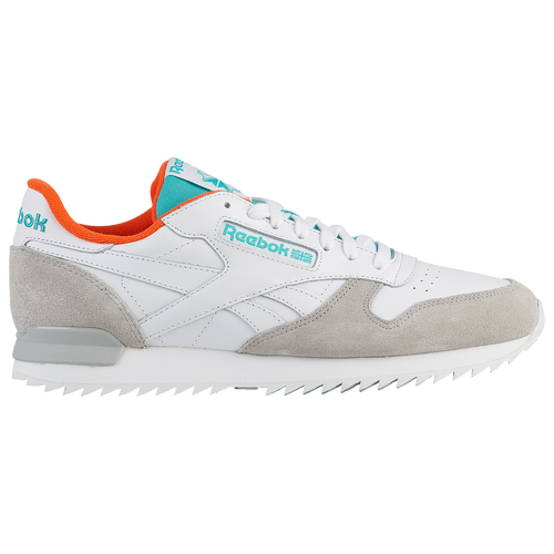 a467672305cbf Reebok Classic Leather Ripple Clip - Men s - Casual - Shoes - Chalk Washed  Blue Primal Red