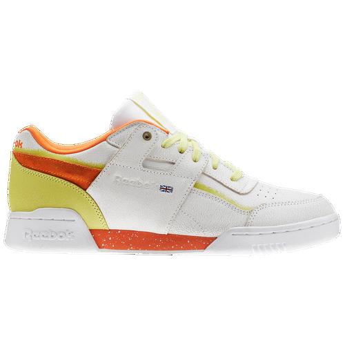 d9d8cedbd9e Reebok Workout Plus - Men s - Casual - Shoes - White Pure Orange Poison  Pastel