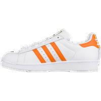 21b83246dcd adidas Originals Superstar - Women s - White   Orange