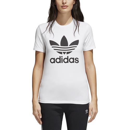 adidas Originals Adicolor Trefoil T-Shirt - Women's - White / Black