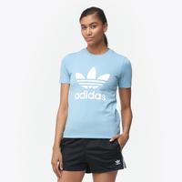 adidas Originals Adicolor Trefoil T-Shirt - Women's - Light Blue / White