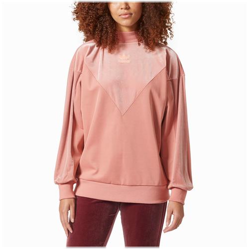 adidas Originals Velvet Vibes Boyfriend Sweater - Women's Casual - Raw Pink CW0268