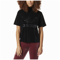 0a058ba93abb39 adidas Originals Velvet Vibes Boxy T-Shirt - Women's - All Black / Black