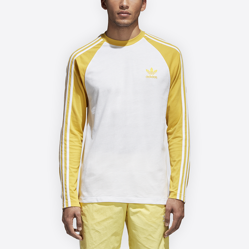 adidas Originals California Long Sleeve T-Shirt - Men's Casual - Tribe Yellow CW1230