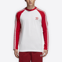 adidas Originals California Long Sleeve T Shirt Bright RedWhite from Foot Locker | People
