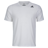 adidas ALPHASKIN S/S Fitted T-Shirt - Men's - White / Grey