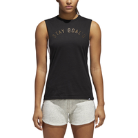 adidas Metallic Muscle T-Shirt - Women's - Black / Gold