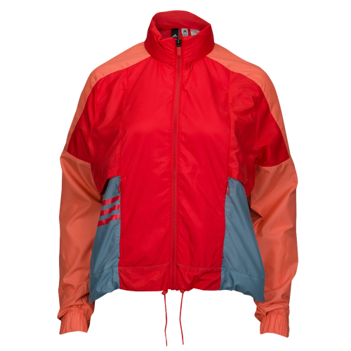 adidas Athletics Colorblock Windbreaker - Women's Casual - Real Coral/Chalk Coral CW2279